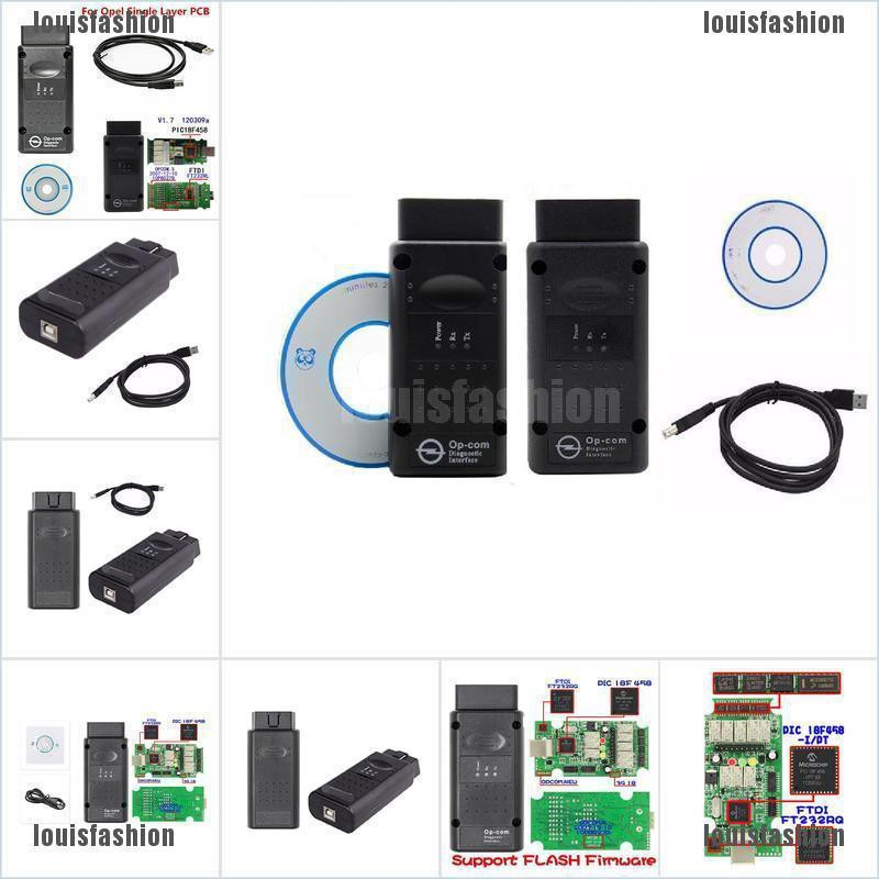 New OP-Com opcom Firmware V1.7 2014V Can OBD2 Adapter for Opel Single Layer PCB