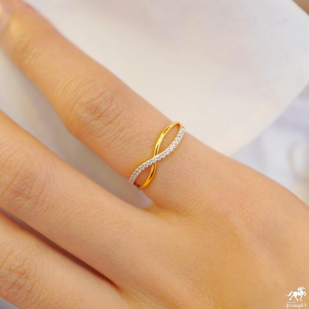 แหวนเพชรแท้ทองคำแท้ No.3 เพชรเบลเยี่ยมคัท ทองคำแท้ 9k (37.5%) ในราคาเปิดตัว ✅ ขายได้ มีใบรับประกัน