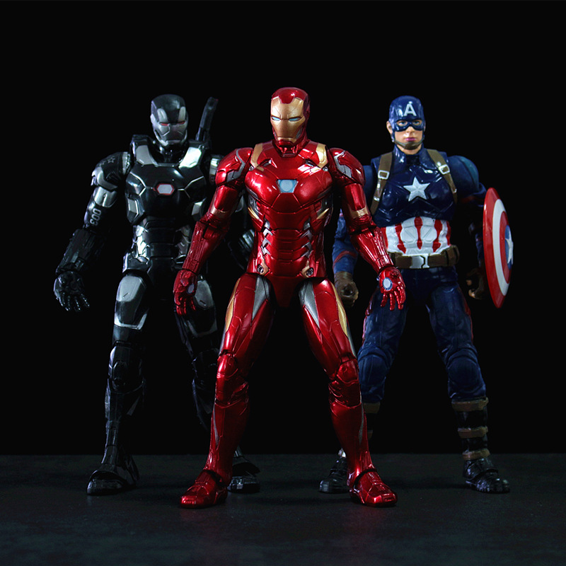 Genuine Marvel Spider-Man Model Garage Kit Avengers4Infinite War Figure Doll Toy Iron Man3