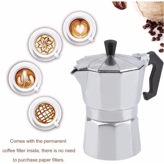 Moka pot หม้อต้มกาแฟ เครื่องต้มกาแฟสด ทำกาแฟที่บ้าน