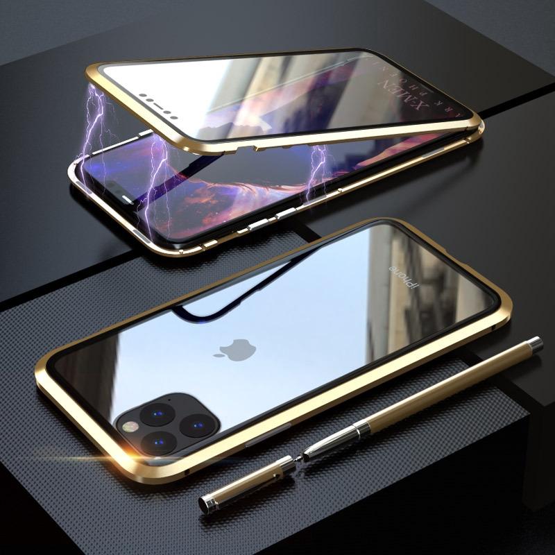 เคสโทรศัพท์มือถือแบบสองด้านสําหรับ Iphone11pro Max 11