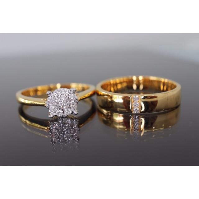 แหวนเพชรน้ำ98 ตัวเรือนทอง18K ราคาโปรโมชั่นคู่ล่ะ 25,500 บาท