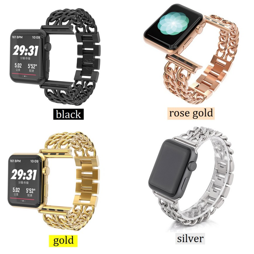 watch 5 ,Series5,Series4 สายนาฬิกาข้อมือ ,Series3, Stainless 42mm Straps SE 2 สาย iwatch Series2 38mm 1 Series6 Apple Watch Chain Watch 40mm , apple 3 Luxury 6 Applewatch size 44mm for Watch เหล็กกล้าไร้สนิม 4 Steel Apple Series สายนาฬิกา band iWatch