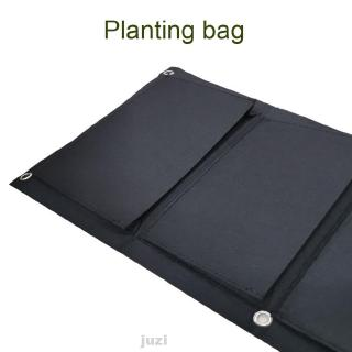 Planting Bag Garden Accessories Space Saving Vegetable Wall Hanging Non-woven 4 Pockets Vertical Growing