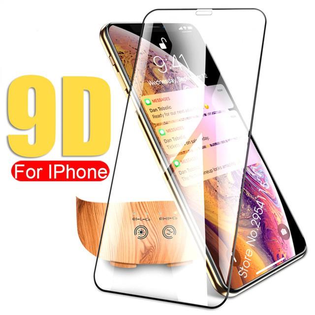 ฟิล์มกันรอยหน้าจอสำหรับ Apple  iphone 11 Pro Max iPhone X XS 6s 7 8 Plus 9D