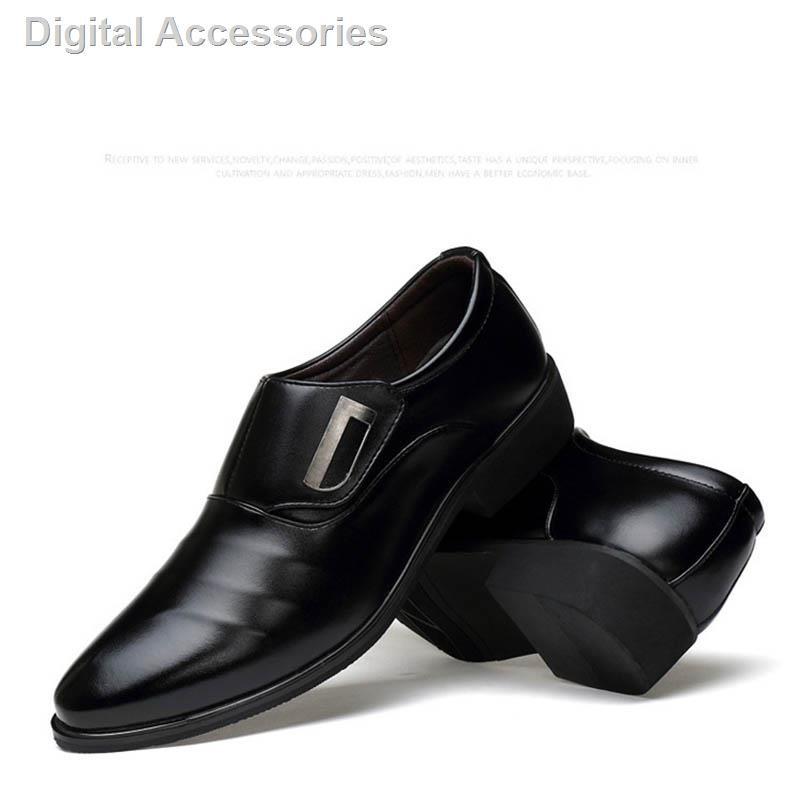 ﺴ⊙รองเท้าหนังผู้ชาย BLACK (สีดำ) Men's Business Dress Shoes CUPual Wedding รองเท้าหนังชาย รองเท้าผู้ชาย รองเท้าคัชชู ผ
