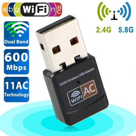 802 11AC 600Mbps Dual Band 2 4G / 5G Hz Wireless Lan USB Adapter