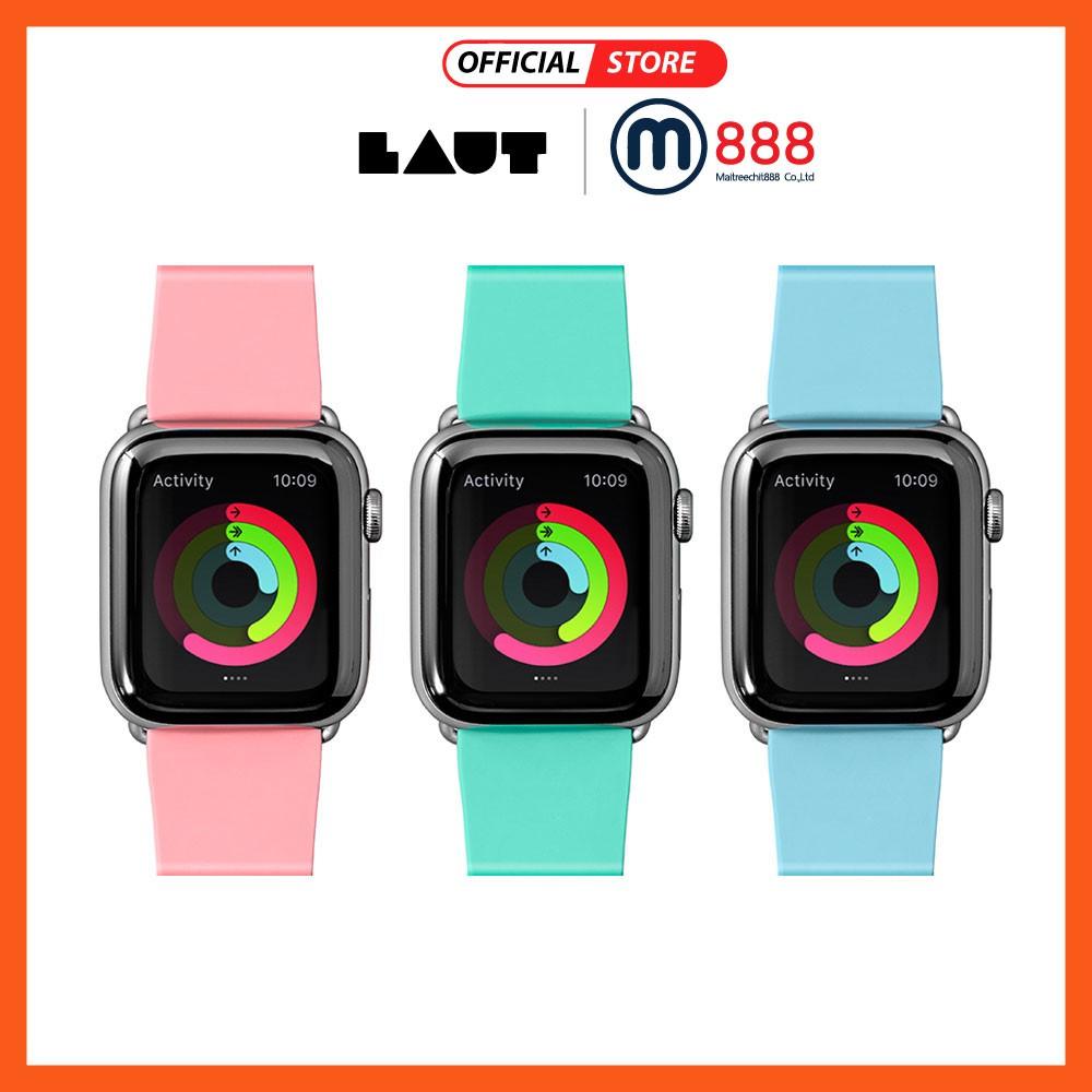 LAUT สาย applewatch Series 1/2/3/4/5 size 38-40/42-44mm สีพาสเทล แอปเปิ้ลวอช สายนาฬิกา