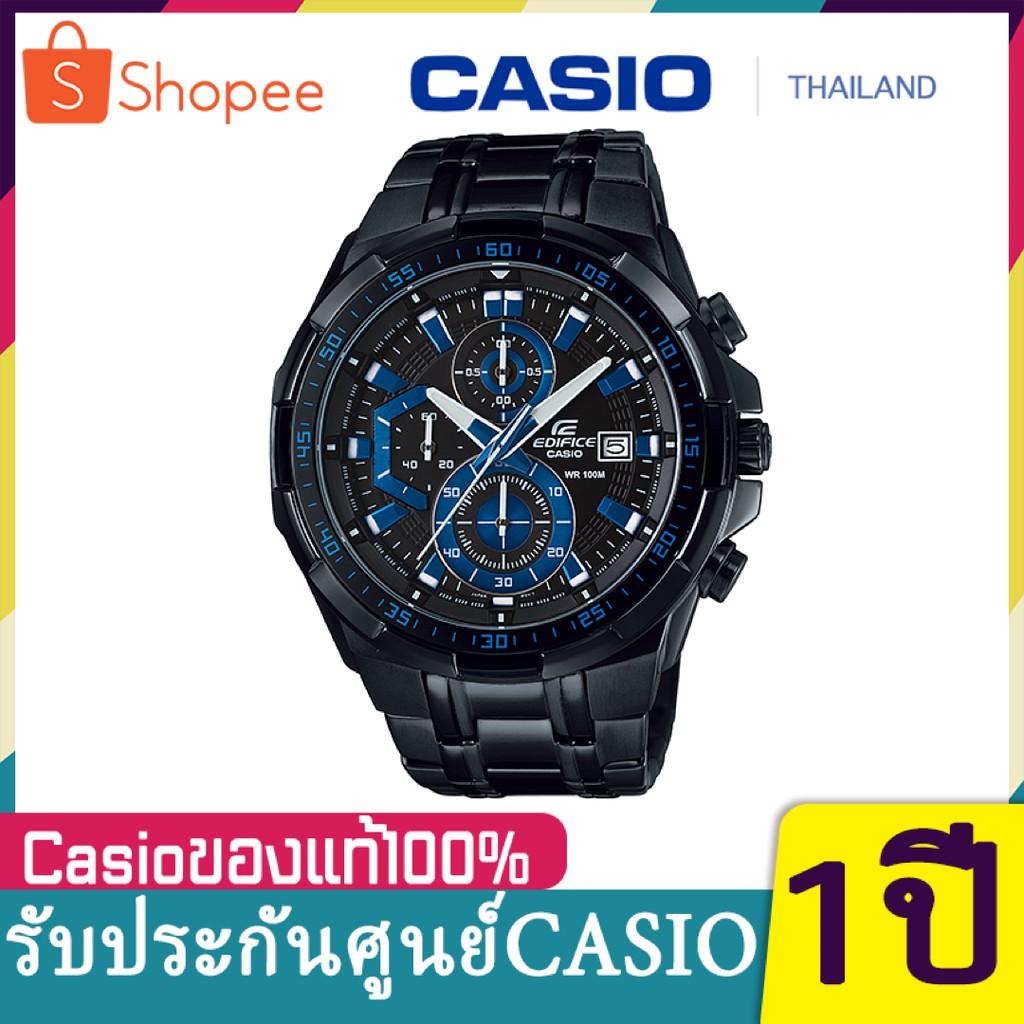 Casio Edifice EFR-539BK-1A2V สินค้าขายดี นาฬิกาข้อมือผู้ชาย สายสแตนเลส (สินค้าใหม่ล่าสุด)