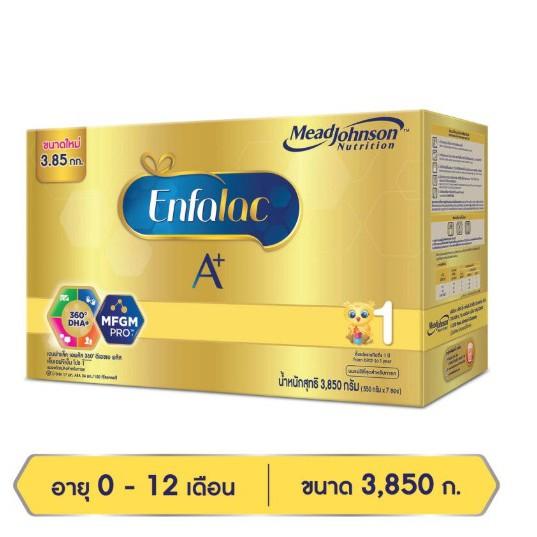 เอนฟาแล็ค เอพลัส สูตร 1 Enfalac A+ ขนาด 3,850กรัม (ขนาด 7ซอง)