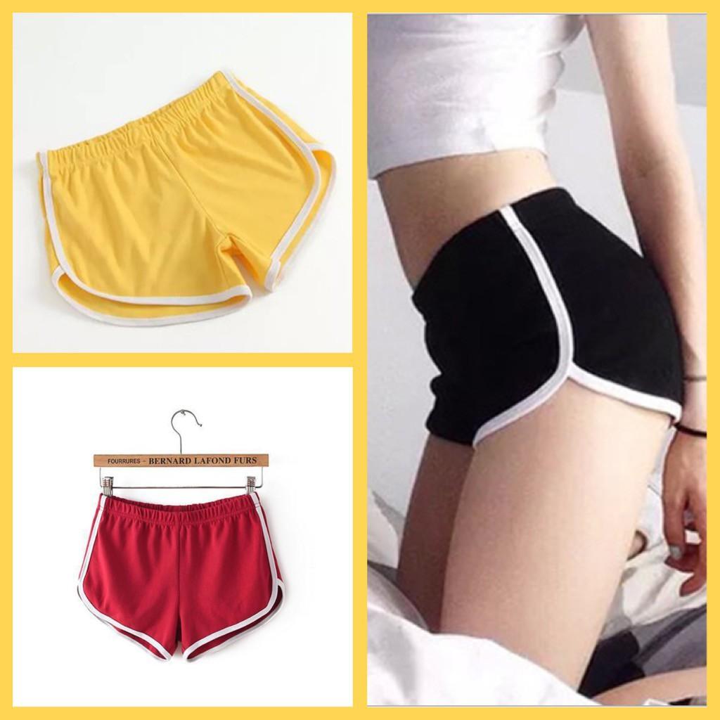 🔥 กางเกงขาสั้นทรงสปอร์ต 🔥 ผ้าหนา  เอวยางยืด กางเกงวิ่ง กางเกงออกกำลังกาย กางเกงขาสั้นแถบสี