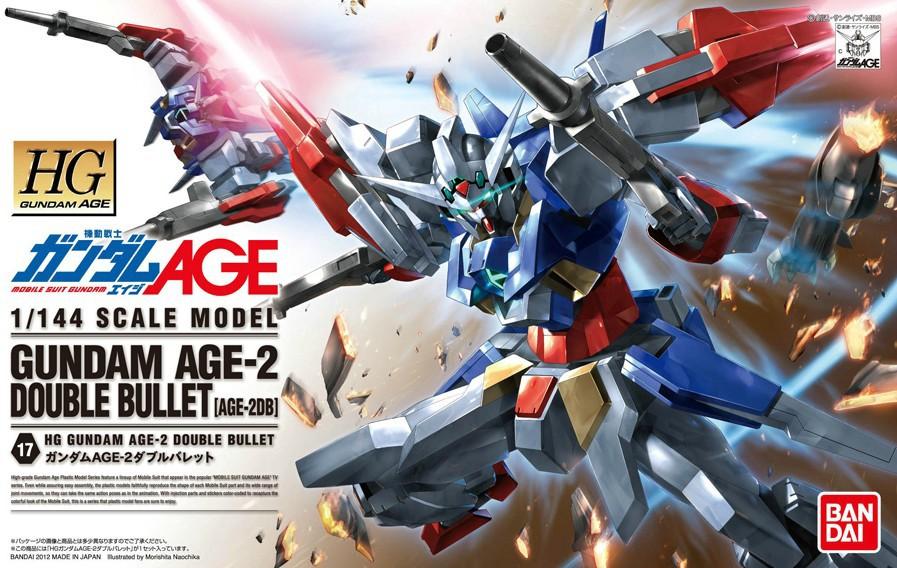 กันดั้ม โมเดล ของเล่น ของขวัญ ของสะสม งานอดิเรก หุ่นยนต์ Gundam Toys Gift Gundam AGE-2 Double Bullet Bandai Model Kits HG 1/144 High Grade HGAGE Gunpla Present Hobby Collectibles DIY Robot 万代机动战士高达模型玩具礼物Ready Stock