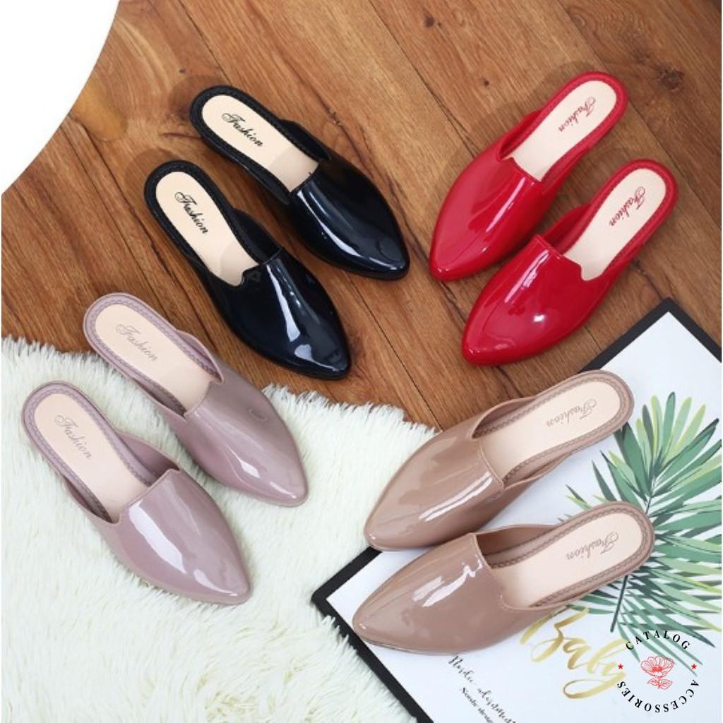 ◮Catalog shoes◮ รองเท้าคัชชูทรงหัวแหลม เปิดส้น ยางนิ่ม มี 4 สี เบอร์ 36-40