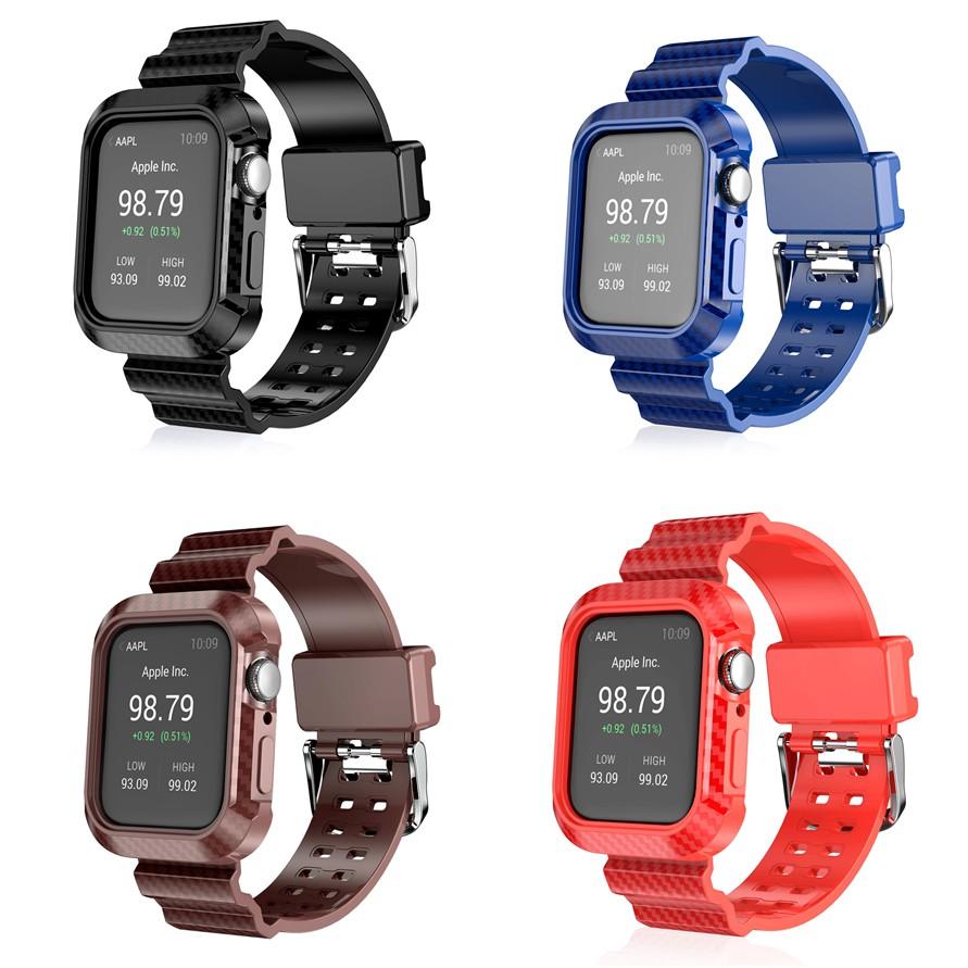 EASA apple watch strap สายยางแข็งและเคสป้องกัน iwatch series SE 6 5 4 3 2 1 สาย applewatch 38 40 42 44mm