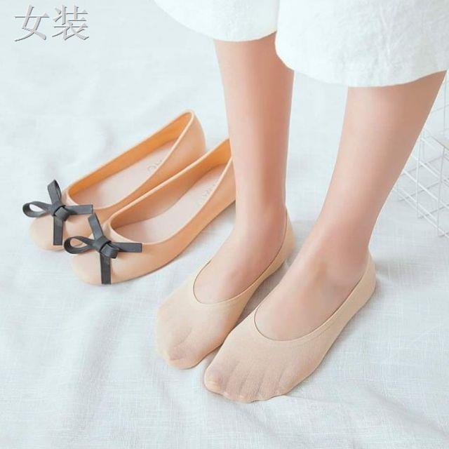 รองเท้าผู้หญิง♣♕❤ใหม่พร้อมส่ง❤  ถุงเท้าคัชชู 🧦ถุงเท้าผู้หญิง ซ่อนขอบ ข้อเว้ามีกันลื่นหลุด👠🌈 เลือกสีได้