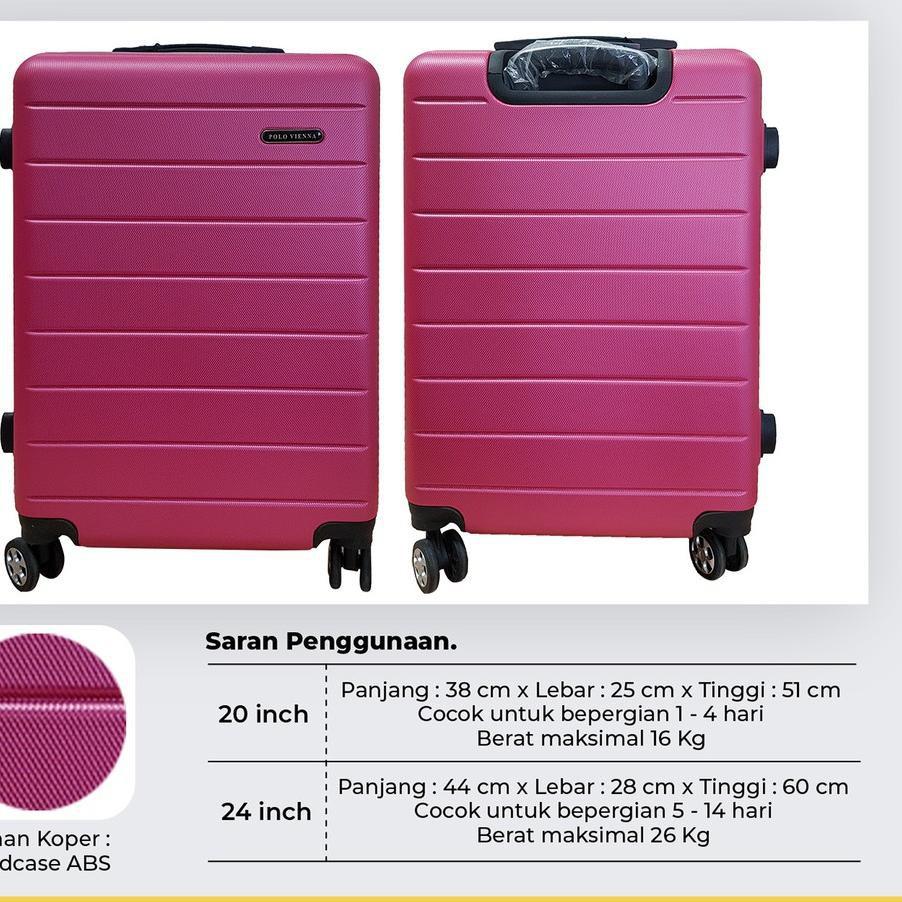 เถาโปโลกระเป๋าเดินทาง 001 24 นิ้ว Abs Fiber, กระเป๋าเดินทาง