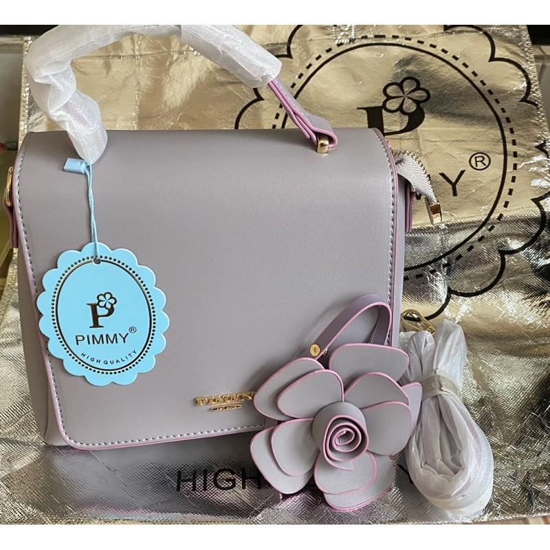 กระเป๋า พิมมี่ สีพาสเทล ห้อยดอกไม้