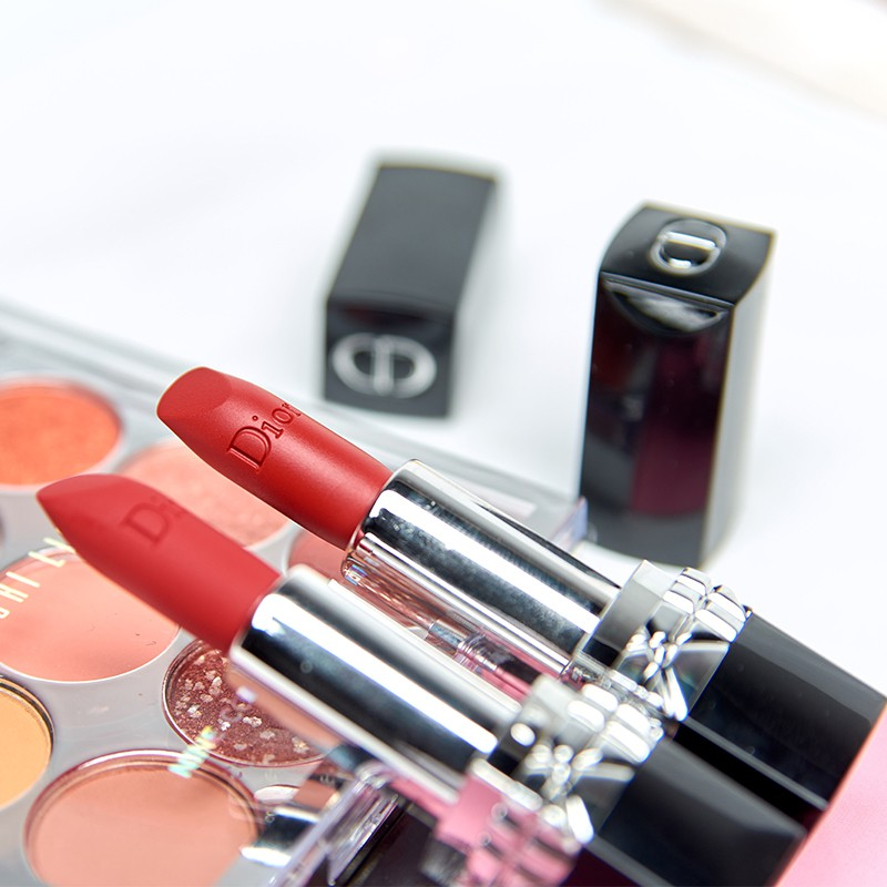 ✸۞Dior / lipstick 999 moisturizing matte 888 sample mini flame blue gold เจ้าใหญ่เคาเตอร์ของแท้