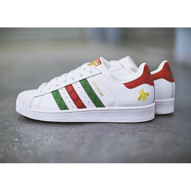 b00d5520d6b7 ... Gucci X ADIDAS ORIGINALS SUPERSTAR 80s shellfish classic  รองเท้าผ้าใบลำลอง ...