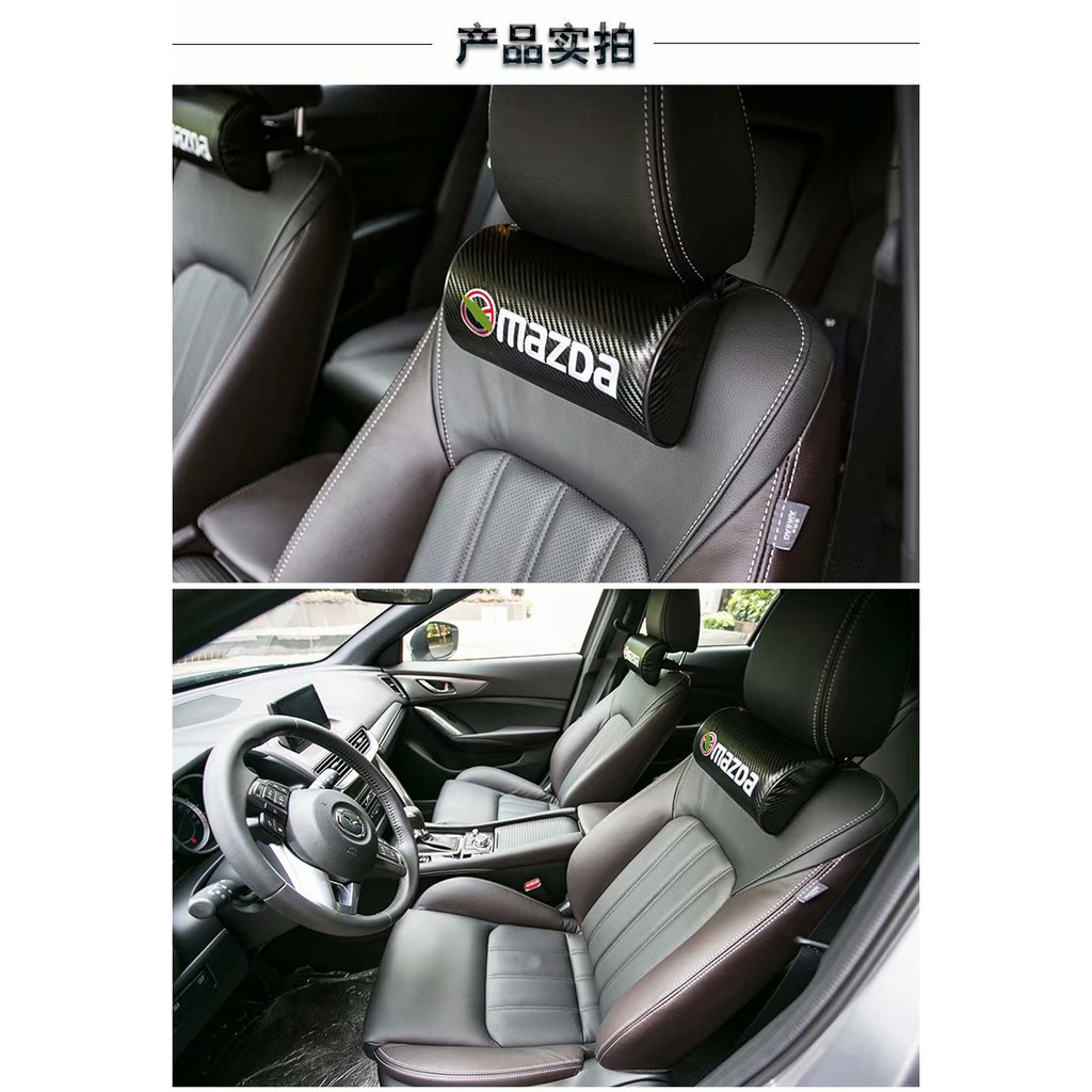 1*Sports Car Seat Rest Cushion Headrest Neck Pillow For BMW //////M 3 5 7 X3 X4 X5