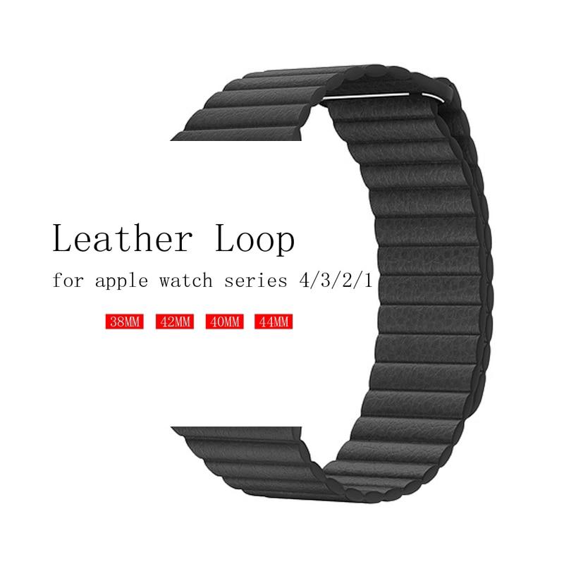 สายคล้องนาฬิกาข้อมือหนังแท้สําหรับ Apple Watch Band 42mm 38mm 44mm 40mm 40mm สําหรับ Iwatch Series 5/4/3/2/1 Bracelet