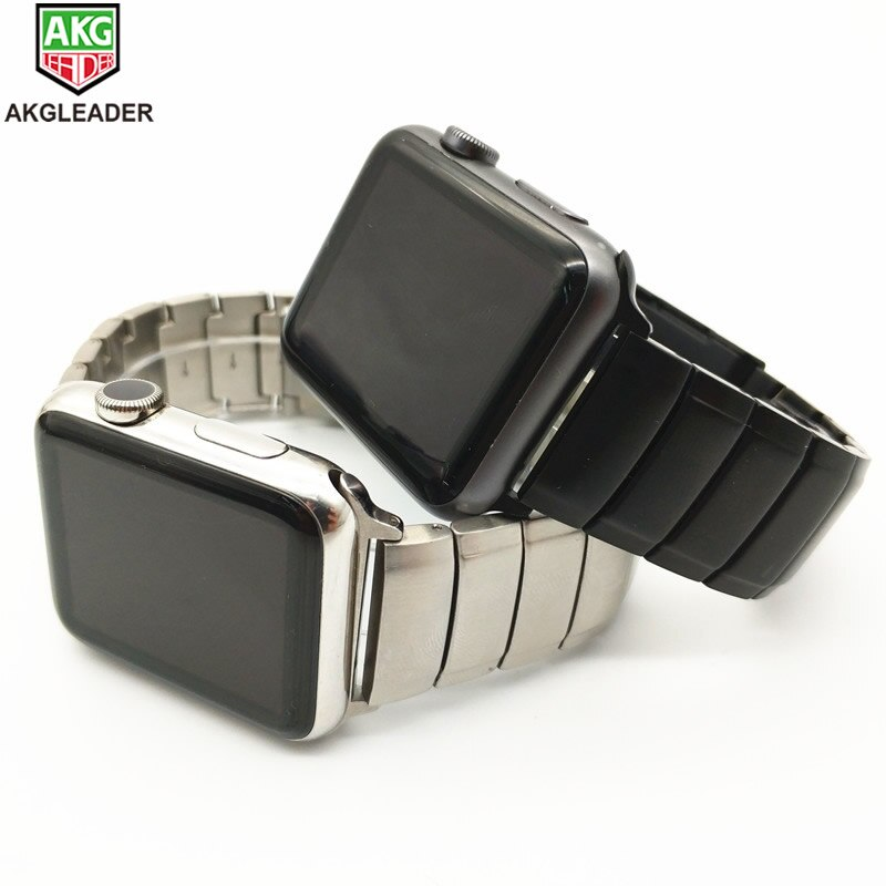Akgwleader - Apple watch series 5 4321 Iwatch solid metal strap, high quality stainless steel bracelet