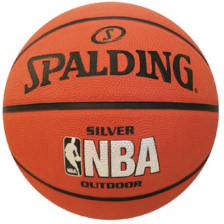 SPALDING บาสเก็ตบอล SPALDING Basketball RB NBA Silver Outdoor #7 (51550)
