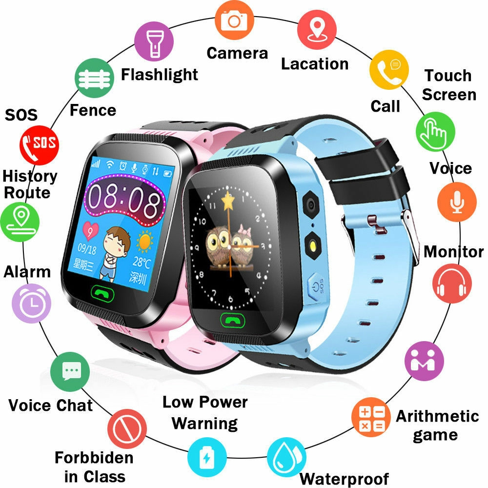 6268e67b38f4 Anti-lost GPS Child Kids Smart Watch Wrist Fitness Track Smartwatch  นาฬิกาเด็ก สมาร์ทนาฬิกา ...