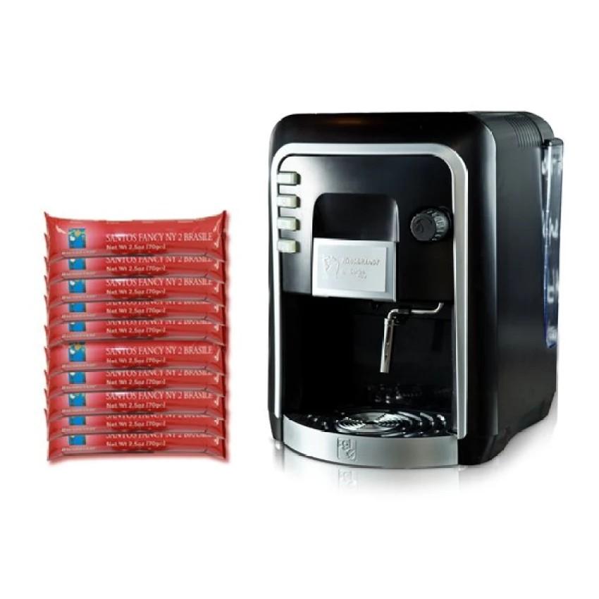 กาแฟแคปซูล : Coffee Italy เครื่องทำกาแฟ รุ่น HAUSBRANDT CAPSY + แคปซูลกาแฟ 10 แพ็ค รส Brazil