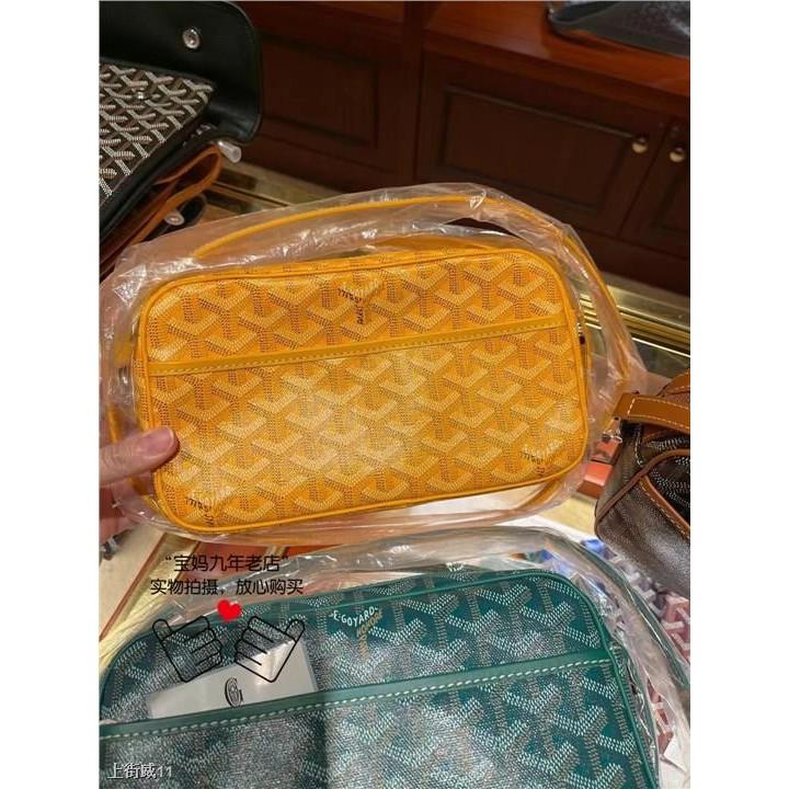 ☢✎กระเป๋ากล้องซิปพิมพ์ลายตัวอักษร Goyard classic, กระเป๋าสะพายข้าง, กระเป๋าใส่อาหารสไตล์เดียวกัน