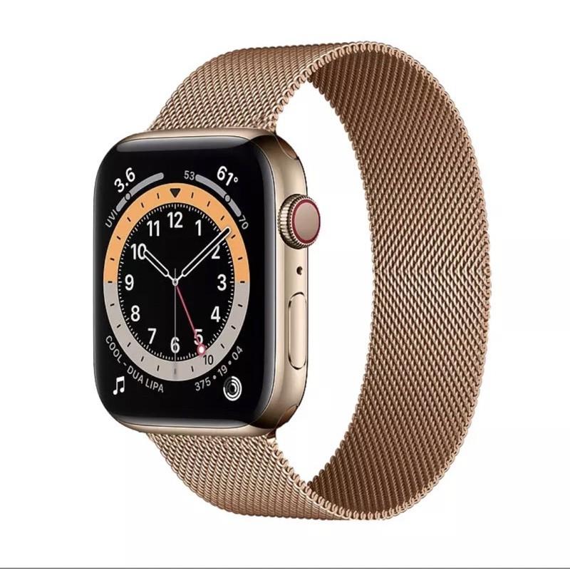 📣💖👍▬●✕พร้อมส่งจากไทย สายStainless Steel สำหรับ AppleWatch มีให้เลือก 6 สี ใส่ได้ทั้ง series SE/6/5/4/3/2/1