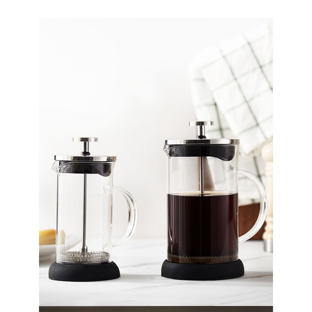 เตา moka pot◄◇№หม้อความดันฝรั่งเศส HYU หม้อกาแฟทำมือในครัวเรือน เครื่องกรองกาแฟเครื่องชงชา ชุดถ้วยกรองกาแฟ