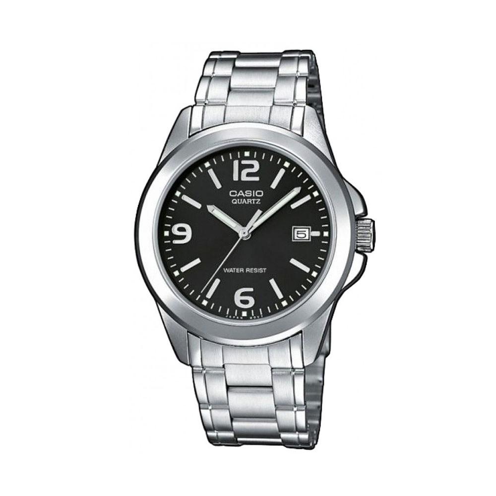 Casio นาฬิกาข้อมือผู้ชาย สีเงิน/ดำ สายสแตนเลส รุ่น MTP-1215A,MTP-1215A-1A,MTP-1215A-1ADF