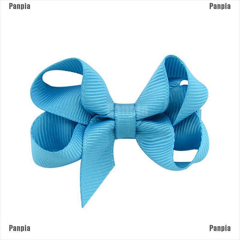 """3/"""" Grosgrain Ribbon Bow Hair Clip Aligator Pins Girls Babies"""