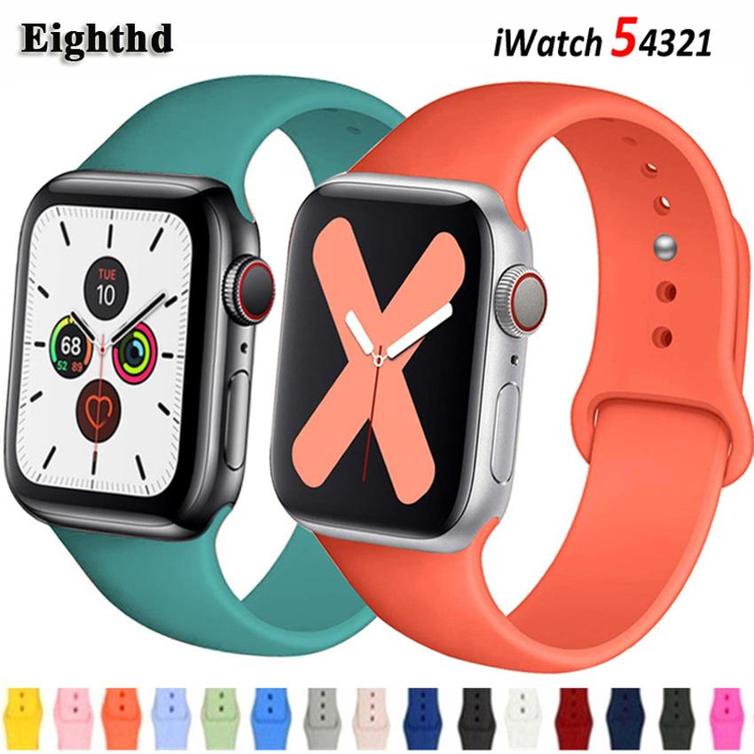สายนาฬิกาข้อมือซิลิโคนสําหรับ apple watch band 44 มม. 40 มม. 38 มม. iwatch series SE 6 5 4 3 2