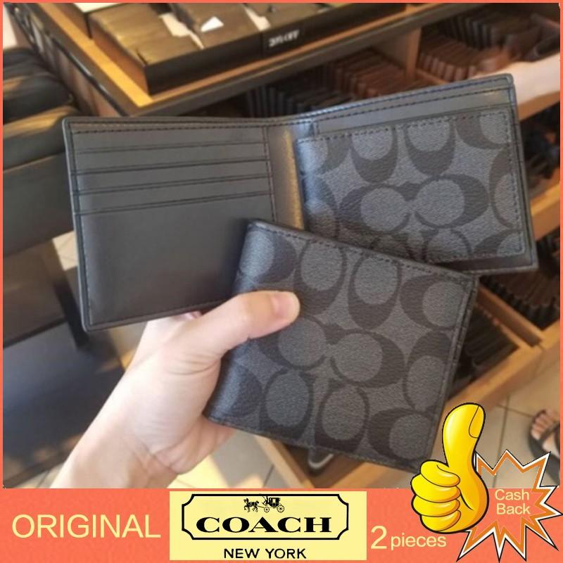กระเป๋าแท้[สต๊อกไทย] ของแท้💯% Coach / กระเป๋าสตางค์ผู้ชาย / F74993 / กระเป๋าสตางค์แฟชั่น / กระเป๋าสตางค์ใบสั้น / ใส่บัตร