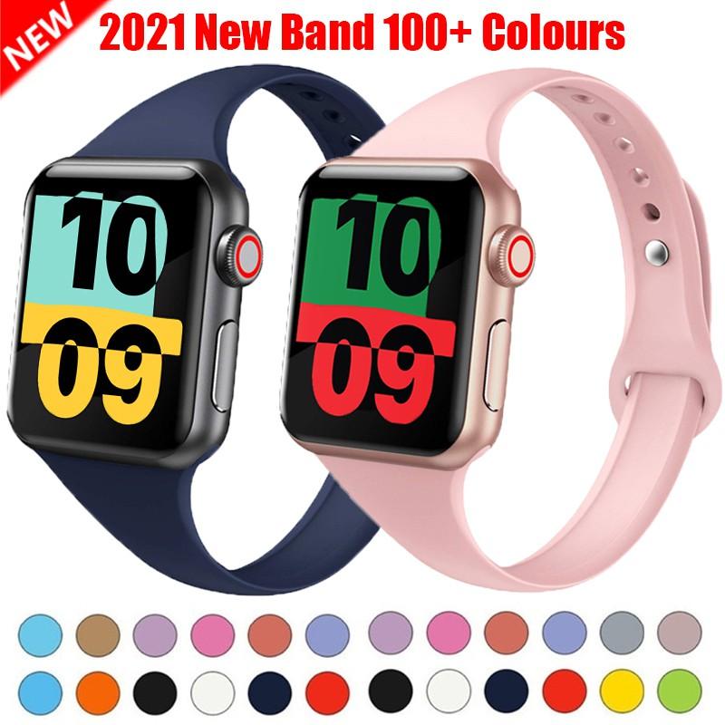 สายนาฬิกาข้อมือซิลิโคนสําหรับ Apple watch band 40มม. 44มม. 38มม. 42มม. iWatch series 2 3 4 5 40 38 42 44 มม.
