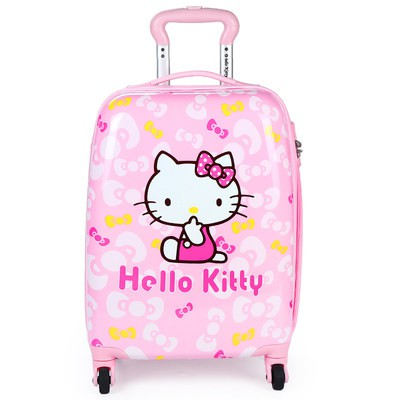 ✈∞รถเข็นเด็กHellokitty กระเป๋าเดินทางเด็กผู้หญิงกระเป๋าเดินทางรถเข็นเด็กกระเป๋าเดินทางกระเป๋าเดินทางเด็กกระเป๋าเดินทางกา