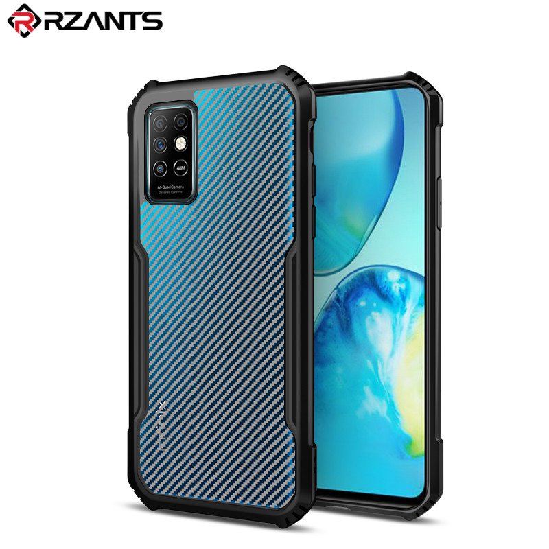 Rzants For Infinix Note 8i Infinix Note 8 Ultra thin เคส เคส Case เคสโทรศัพท์ เคสโทรศัพท์【Carbon Beetle】 Hybrid Shockproof Slim Bemper เคสมือถือ Cover Phone Casing