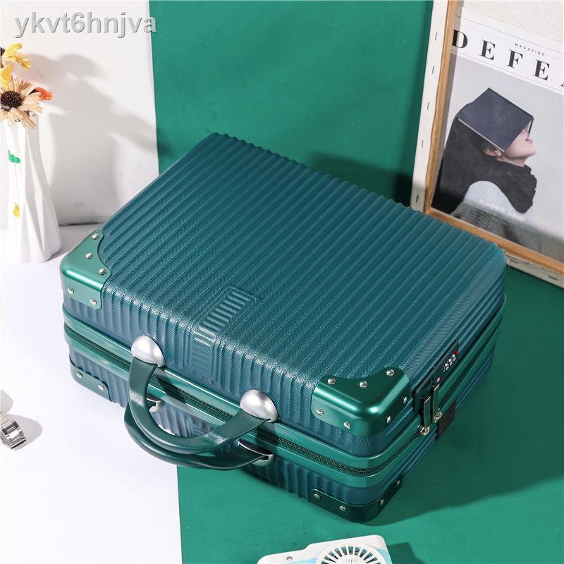 😎fashion😎กระเป๋าเดินทางขนาดเล็กน่ารัก 14 นิ้ว กระเป๋าใส่เครื่องสำอางแบบพกพาเดินทางกระเป๋าใส่เครื่องสำอางค์ขนาดเล็กสาม