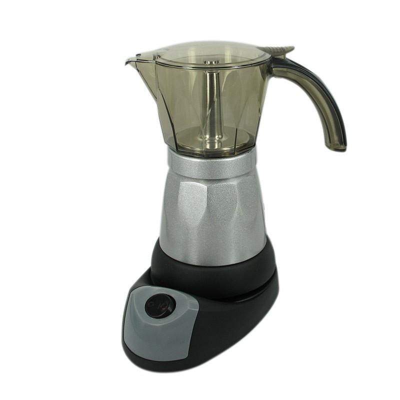 Hot! เครื่องทำกาแฟ Moka pot ไฟฟ้า มอคค่าพอท หม้อต้มกาแฟ (คละสี)1614-041 ฮิต!