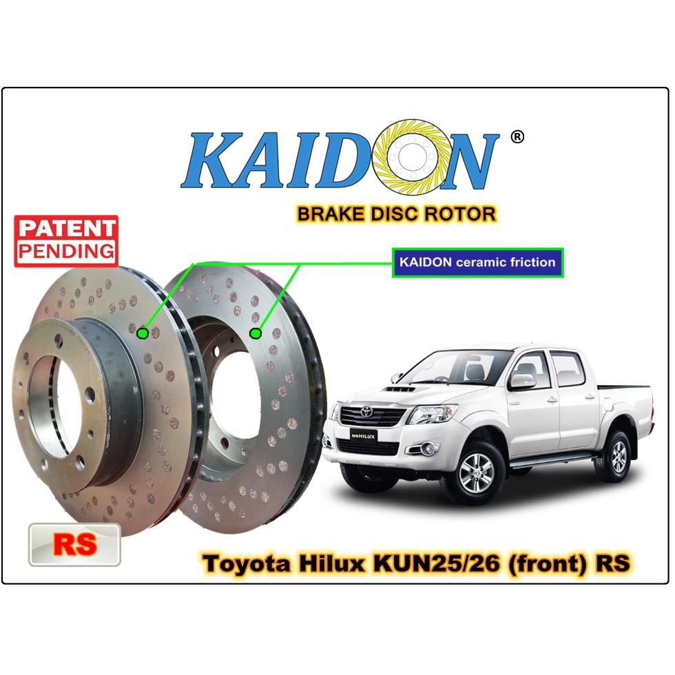 Toyota Hilux KUN25/26 disc brake rotor KAIDON (front) type