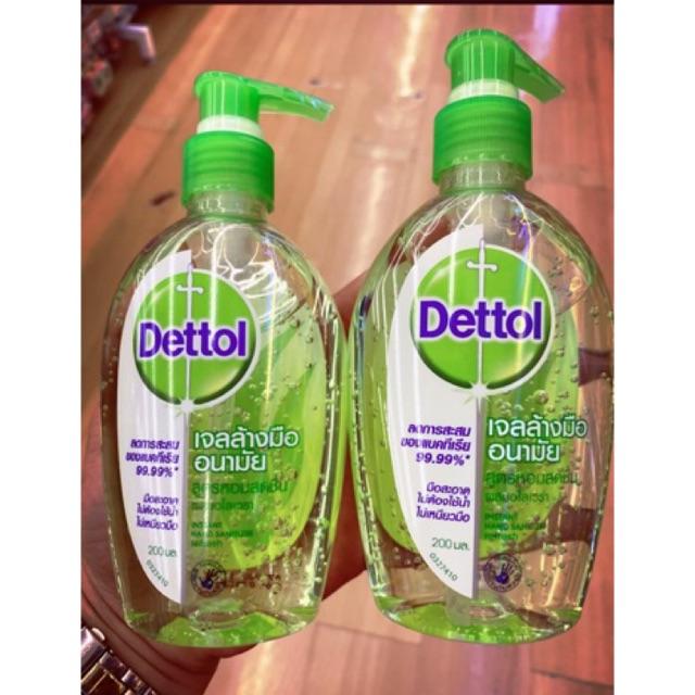 [พร้อมส่ง]เจลล้างมืออนามัยDettol 200 มล.ขวดปั้ม