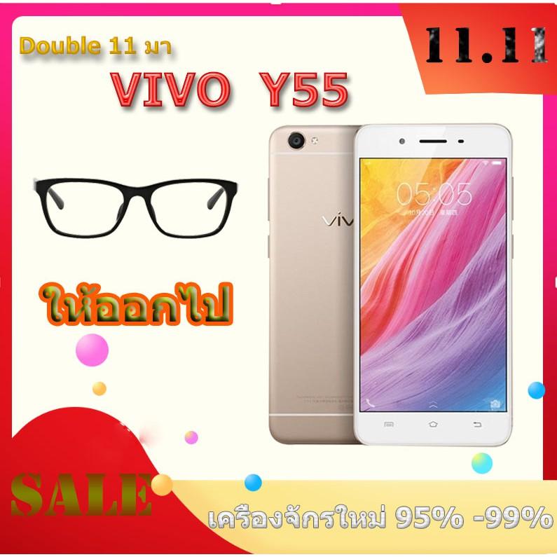 (สุ่ม) VIVO Y55 RAM2 + เครื่องใหม่ 16GB  ประกัน 3 เดือนฟรีกล่องใส + ฟิล์ม OPPO โทรศัพท์มือถือพรีเมี่ยม