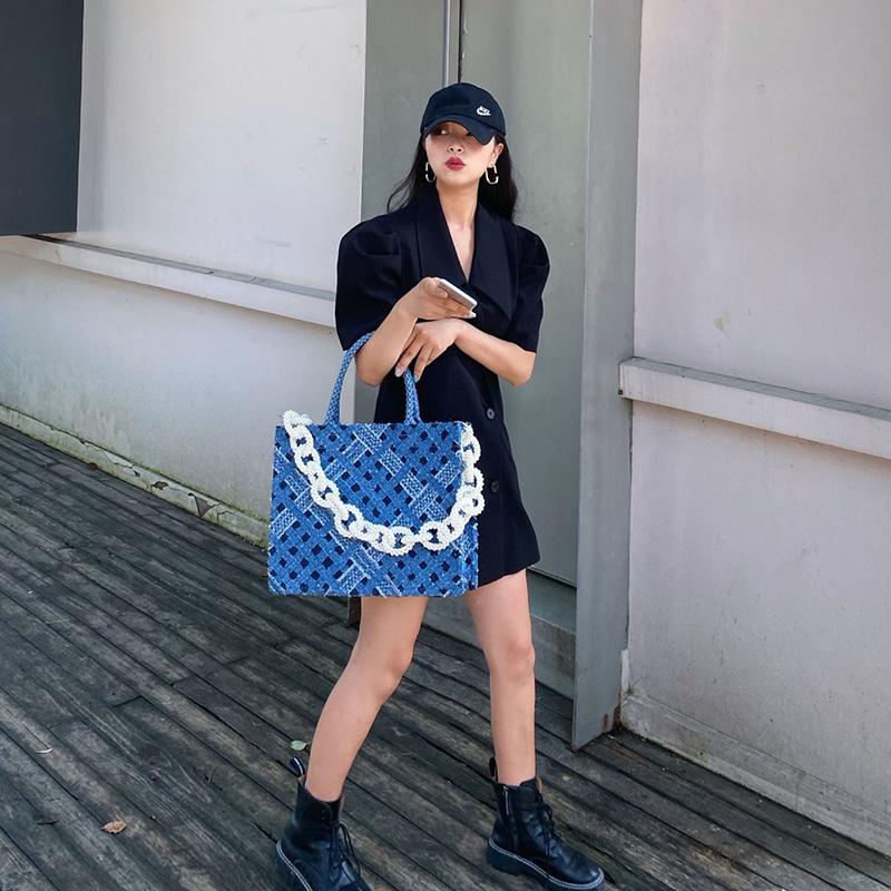 กระเป๋าถือสุทธิ Hongxi บราเดอร์คนดังแรงบันดาลใจกระเป๋าหญิงมุกระยะสั้นกระเป๋าเดินทางความจุขนาดใหญ่คาวบอย presbyopic ชนกลุ