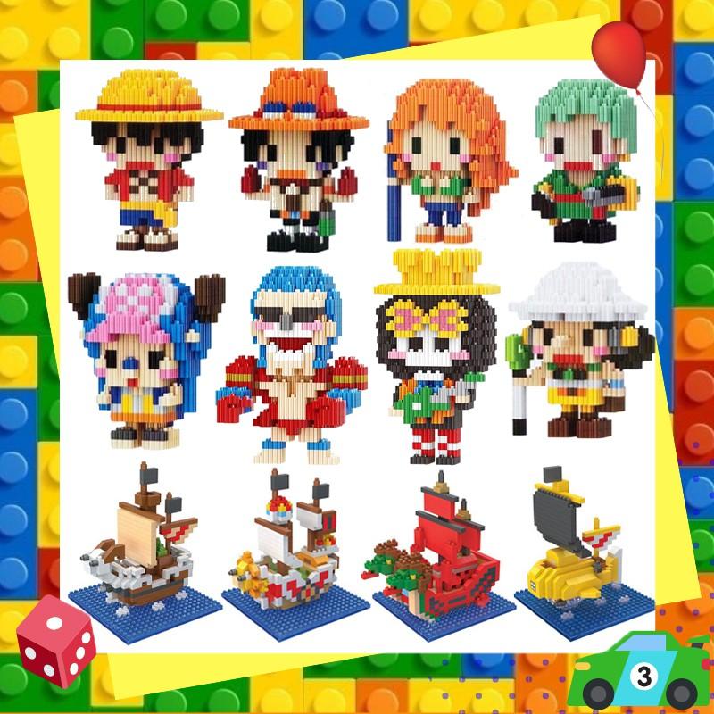 ตัวต่อเลโก้นาโนวันพีชแบบเฟือง Linkgo One Piece Nanoblock Size L.