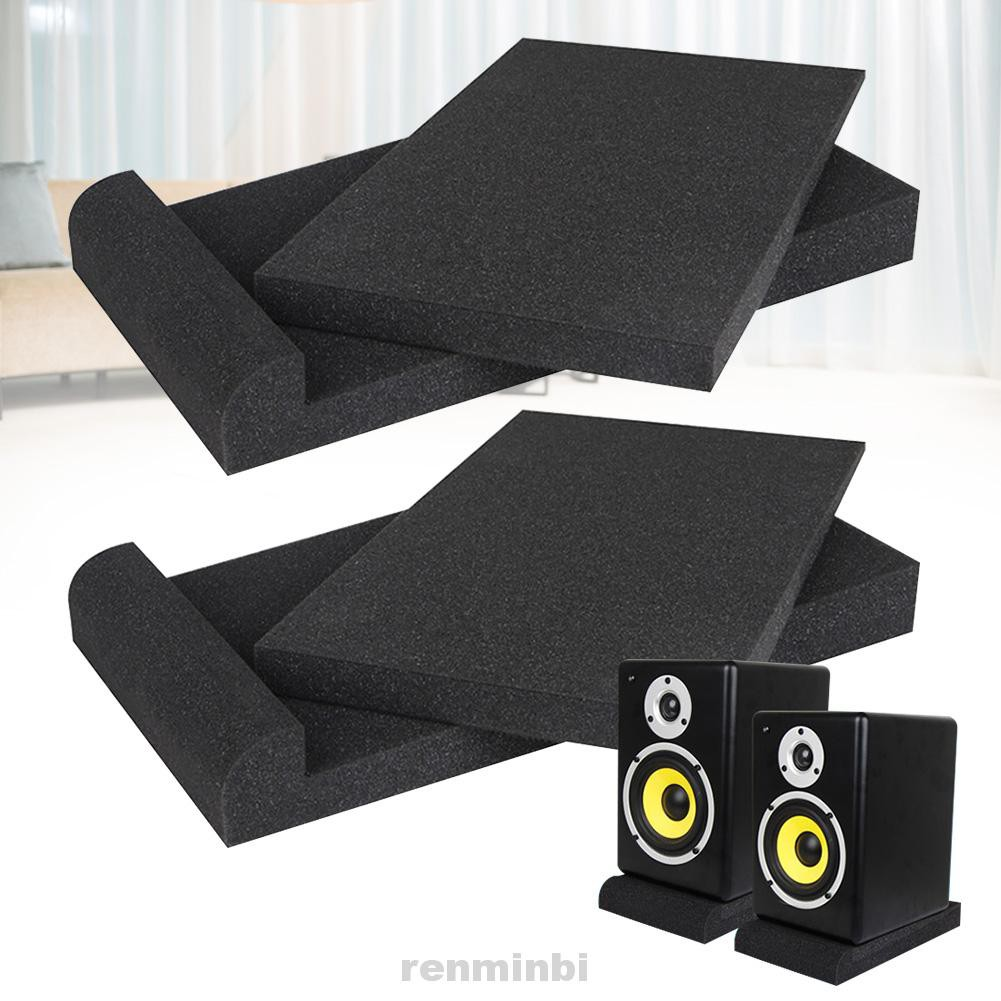2pcs Home Recording Room Adjustable Angle Subwoofer Accessories Speaker Base Studio Monitor High Density Isolation Pad