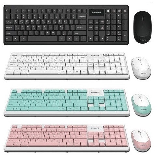 Philips SPT C314 คีย์บอร์ดWireless keyboard and mouse combo Wirless mouse