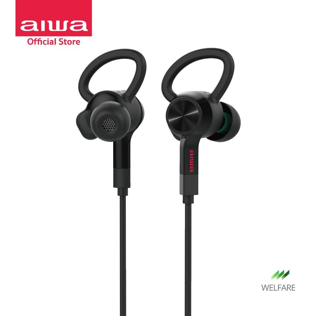 หูฟังบลูทูธ หูฟัง บลูทูธAIWA EB-601 Classic Wireless Bluetooth Earphones ไร้สาย หูฟังแบบคล้องคอ กันbluetooth หูฟังไร้สาย