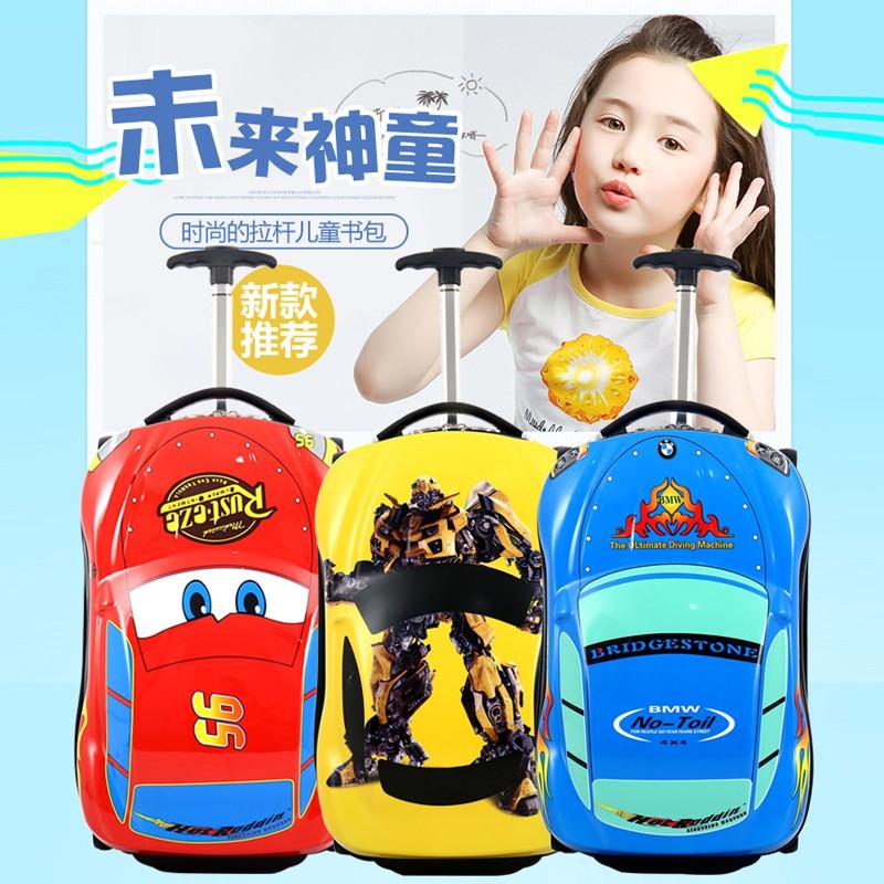 ≒℉ กระเป๋าเดินทางพกพา  กระเป๋ารถเข็นเดินทางกระเป๋าเดินทางเด็ก รถเข็นเด็กกระเป๋าเดินทางเด็ก 18 นิ้วการ์ตูนกระเป๋าเดินทางร